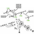 11-66 Сайлентблок задней тяги схождения Mercedes GL-CLASS 164, 166; ML-CLASS 164, 166; 1643500053, фото 3