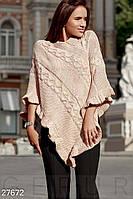 Теплое вязаное пончо Gepur 27672, фото 1