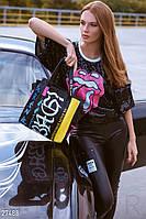 Кожаная сумка с принтом Gepur 27488, фото 1