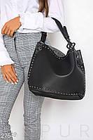 Кожаная сумка с декором Gepur 27649, фото 1