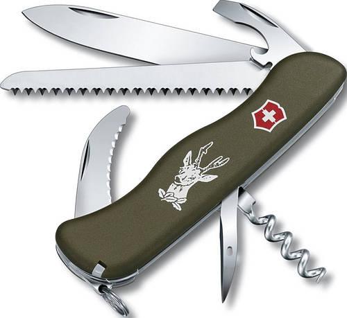 Удобный складной нож Victorinox Hunter 08873.4 зелёный