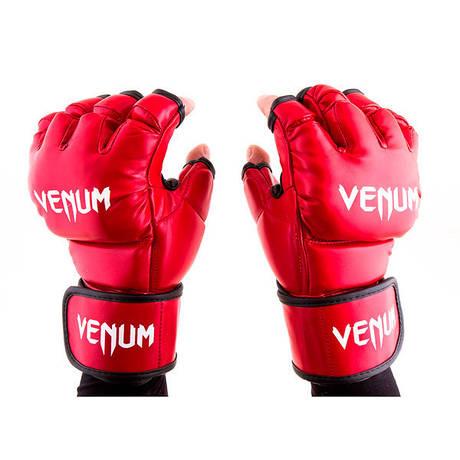 Рукавички для змішаних єдиноборств MMA Flex Venum 364 (S, M, червоний)