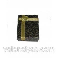 Футляр для комплектов украшений серебряный внутри черный