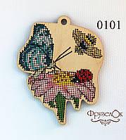 """Набор для вышивання крестиком на деревянной основе ФрузелОк """"Піретрум"""" 0101"""