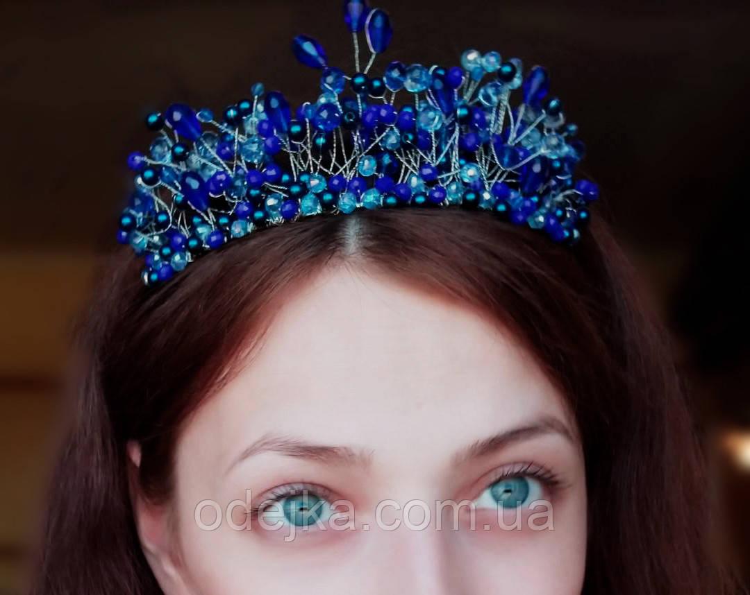 Синяя корона диадема