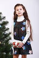 Сарафан теплый детский «Белые цветы»