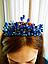Синя корона діадема, фото 2