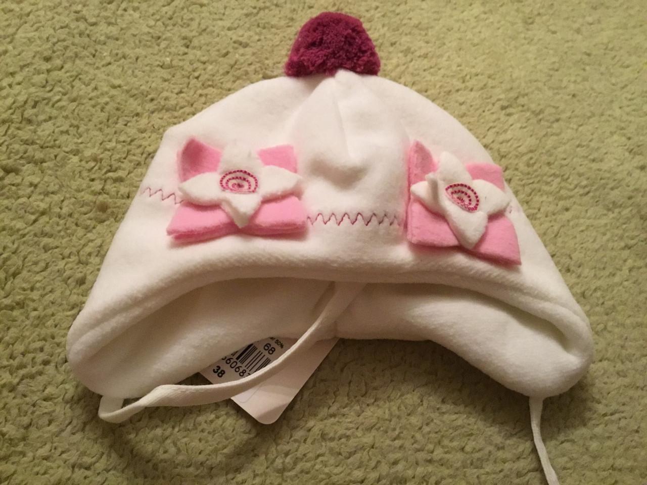 Флисовая шапочка на подкладке для девочке
