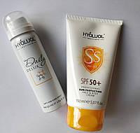 Hyalual набір: спрей Дейлі ДеЛюкс і сонцезахисний крем SPF 50