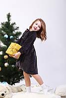 Платье детское Велюровое, плюшевое,теплое.