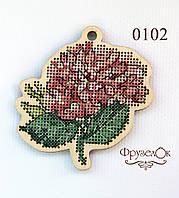 """Набор для вышивання крестиком на деревянной основе ФрузелОк """"Гортензія"""" 0102"""