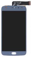 Дисплей (экран) для Motorola XT1900-7 Moto X4 + тачскрин, цвет синий