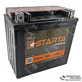 Аккумулятор гелевый для мотоциклов, квадроциклов Starta Moto 6мтс-14 12В 175 А AGM Technology + электролит