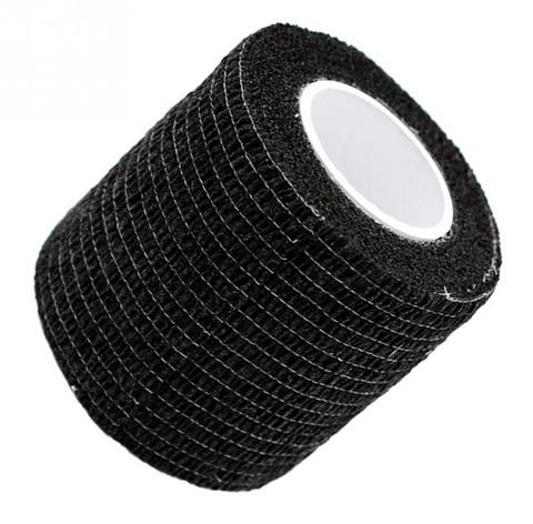 Бинт эластичный черный, бандажный, для держателей татуировочных машинок, фото 2