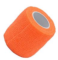 Бинт эластичный оранжевый, бандажный, для держателей татуировочных машинок