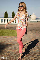 Цветочный костюм с жакетом Gepur 27059