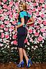 Трикотажное двухцветное женское платье (Bler sk), фото 5