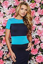 Трикотажное двухцветное женское платье (Bler sk), фото 3