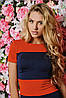 Трикотажное двухцветное женское платье (Bler sk), фото 2