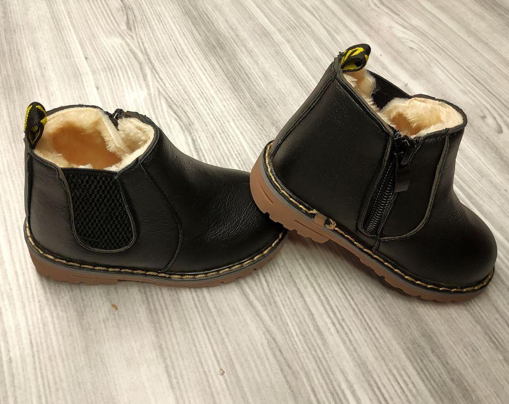 7b52060af609cb Черевики дитячі зимові з хутром PU-шкіра чорні, цена 315 грн., купить  Тернопіль — Prom.ua (ID#838448636)