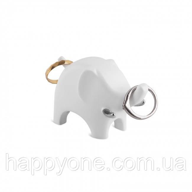 Держатель для колец Anigram Elephant Umbra (белый-хром)