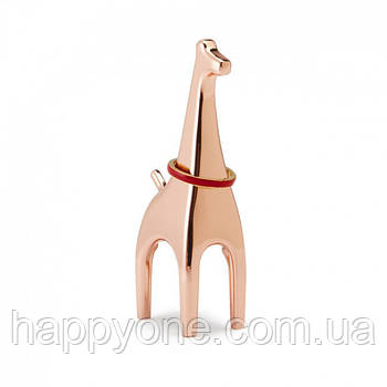 Держатель для колец Anigram Giraffe Umbra (медь)