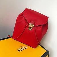 Модный женский рюкзак FENDI красный (реплика), фото 1