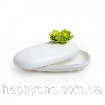 Шкатулка для украшений и аксессуаров Lotus Pebble Box Qualy (белый-зеленый)