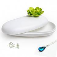 Шкатулка для украшений и аксессуаров Lotus Pebble Box Qualy (белый-зеленый), фото 2
