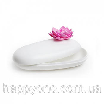 Шкатулка для украшений и аксессуаров Lotus Pebble Box Qualy (белый-розовый)