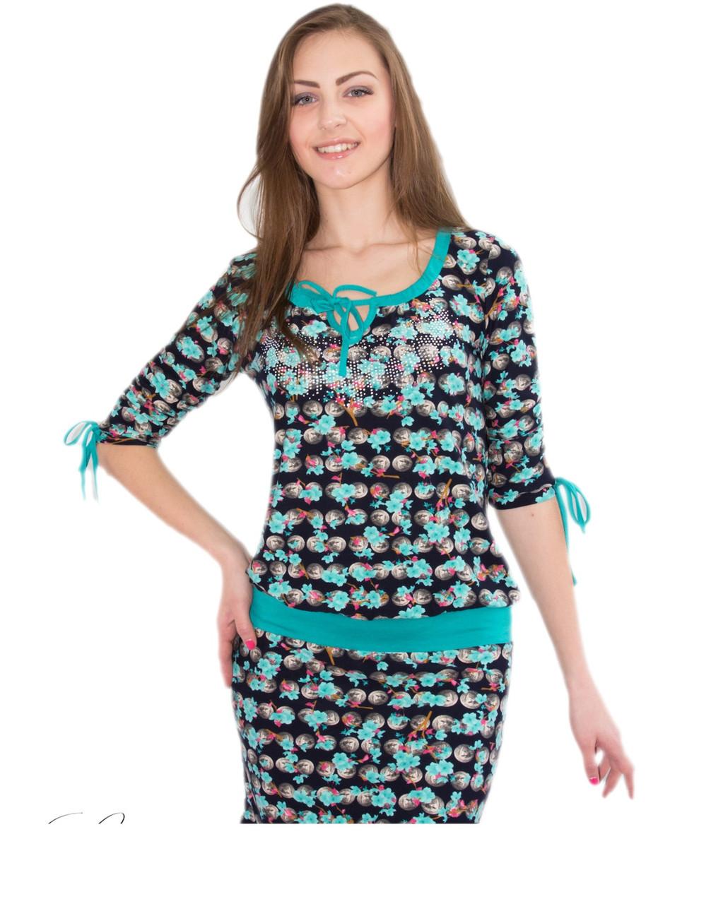 Платья туники из турецкого трикотажа
