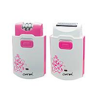 Эпилятор Gemei GM 3058 2 в 1 Розовый  (0350_sp)
