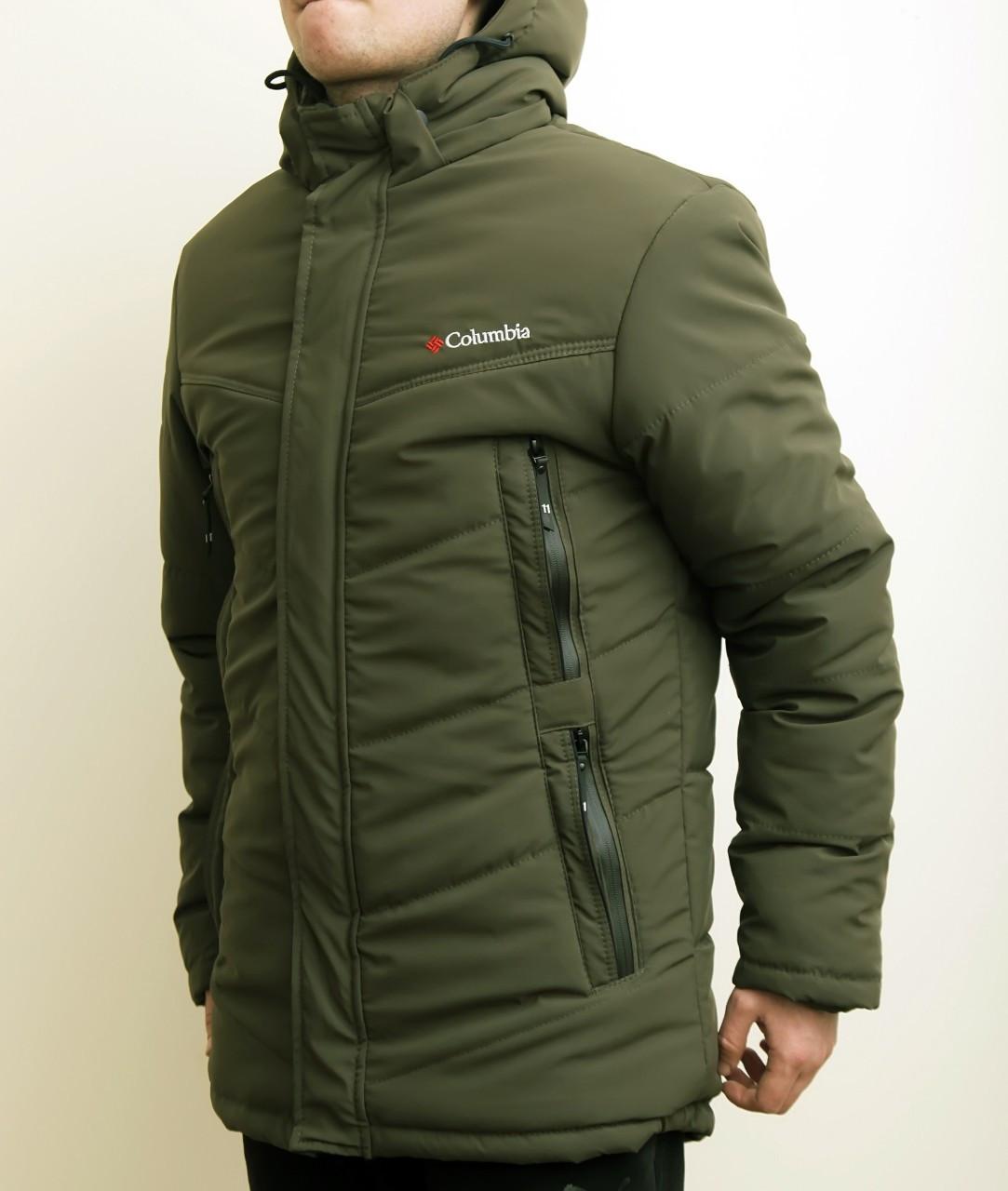 Мужская зимняя куртка парка Columbia 9081 темно зелений - Интернет-магазин