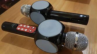 Беспроводной Караоке Микрофон с динамиком Wster WS-1816 USB AUX FM (Золотой)
