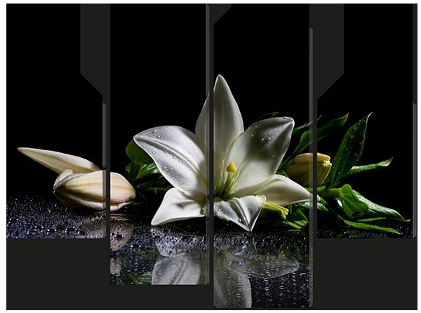Модульная картина Interno Эко кожа  Нежная лилия 106X77см (A594S)