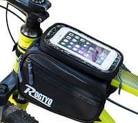 Велосипедная сумка для смартфона Rogtyo черная
