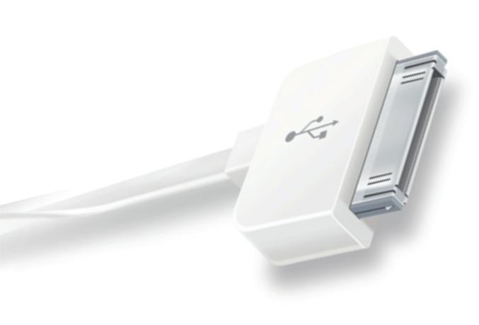 Кабель USB - APPLE 30 PIN 0.4m CRAFTMANN Дата-кабель