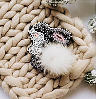 """Набор для вышивки бисером украшения на натуральном художественном холсте """"Зайка"""""""