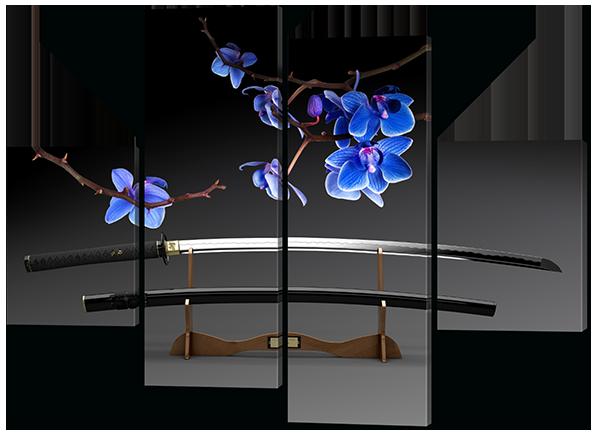 Модульная картина Interno Холст Меч орхидеи 126x93см (R512М)