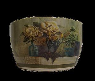 Кашпо овальне горщик для квітів декоративний керамічний