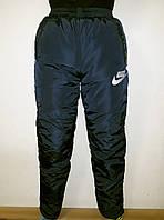 Зимние штаны плащевка на синтепоне и флисе для подростка., фото 1