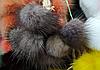 Меховой помпон из норки 4-6 см