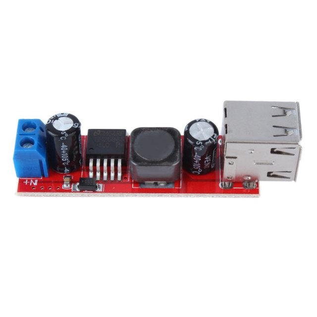 Понижающий преобразователь двойной USB DC-DC 6-40В на 5В 3А LM2596S