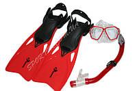 Набор для плавания red ласты с регулировкой +маска+трубка