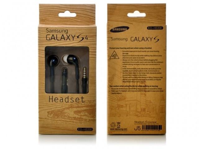 Наушники вакуумные с микрофоном Samsung S4 в коробке