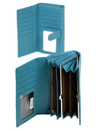 Кошелек Classic кожа DR. BOND W46 голубой, фото 2