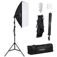 Комплект света INTEY NY-P01 (софтбокс 50 x 70 см, стойка, лампа и сумка для переноски)