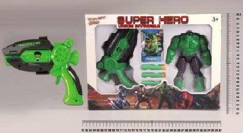Набор робот-супергерой Халк и бластер с патронами