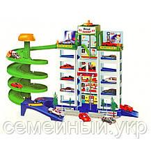Паркинг детский с лифтом для машинок. 6 этажей. 4 машинки в комплекте. Код/Артикул 922, фото 3