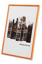 Рамка а4 из пластика - Оранжевая - со стеклом